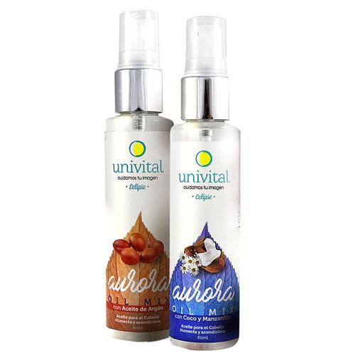 aceite capilar de coco y manzanilla univital