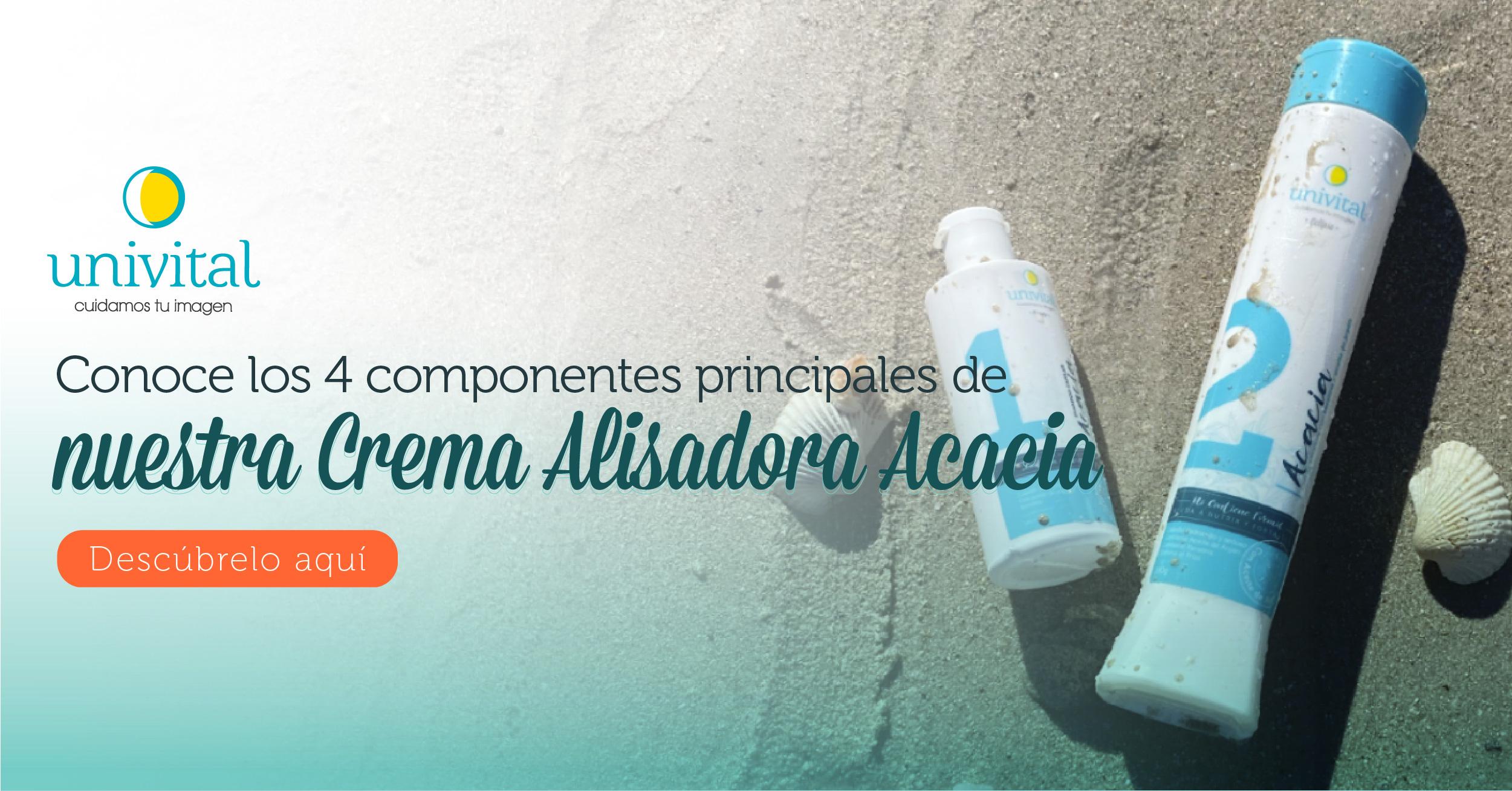Conoce los 4 componentes principales de nuestra Crema Alisadora Acacia