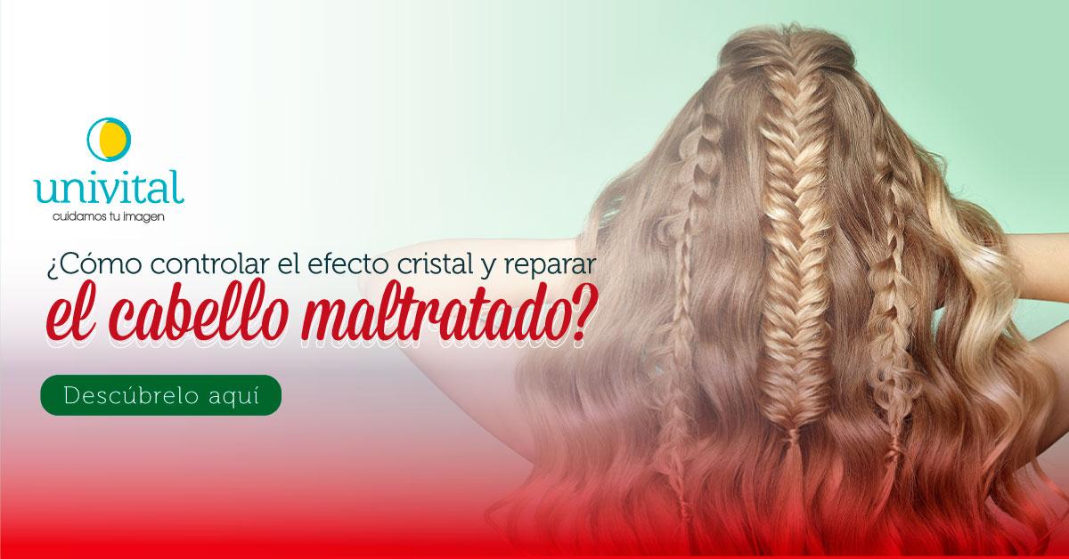 ¿Cómo controlar el efecto cristal y reparar el cabello maltratado?