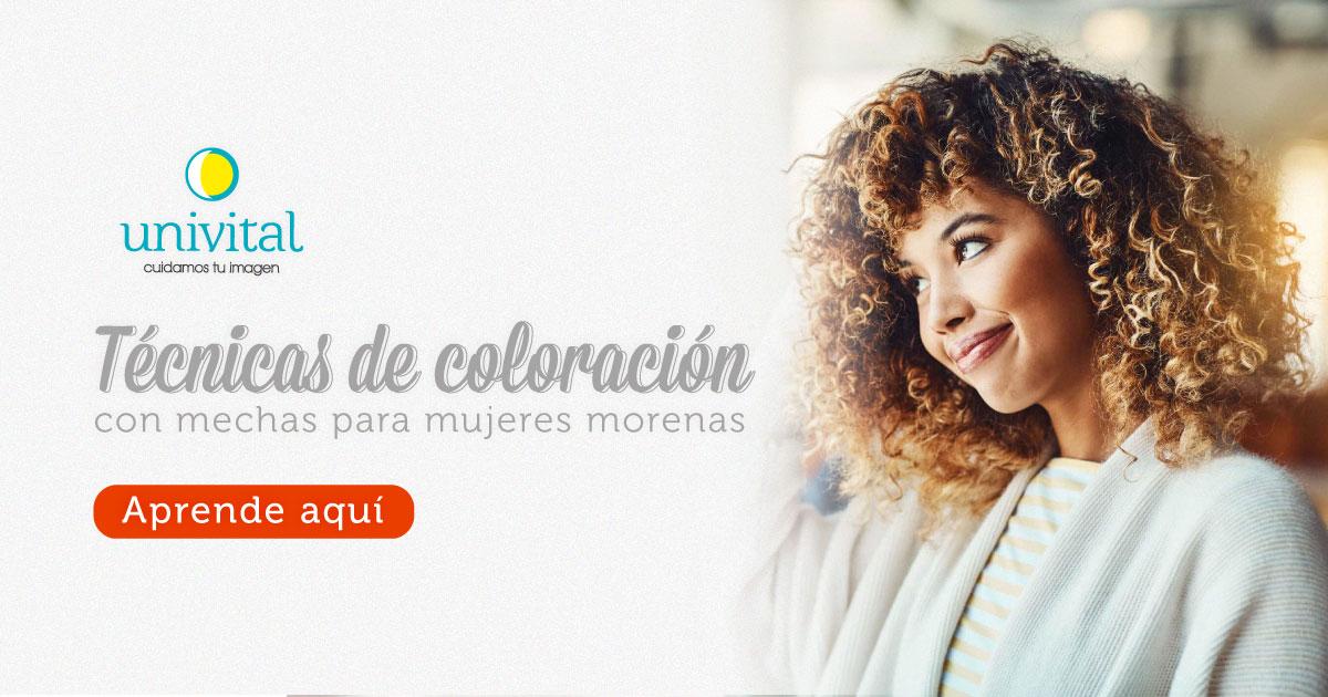 Técnicas de coloración con mechas para mujeres morenas