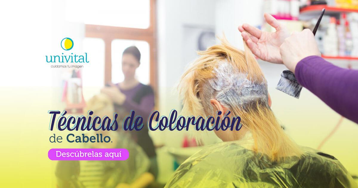 Técnicas de coloración de cabello con Univital