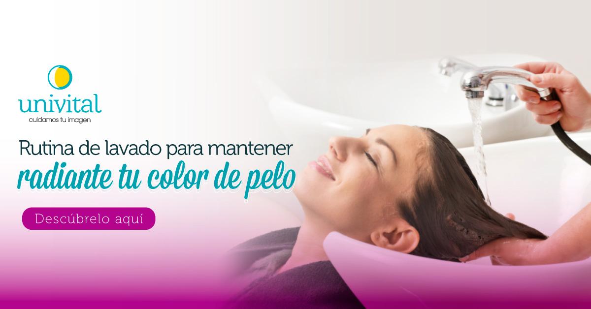 Rutina de lavado para mantener radiante tu color de pelo